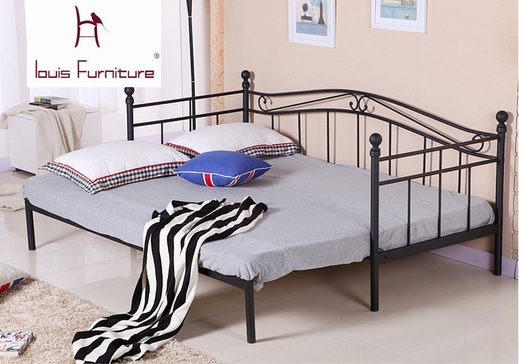 US $69.0 |European style iron bed modern bedroom furniture princess bed  student bed sofa bed for children can be folded retractable-in Beds from ...