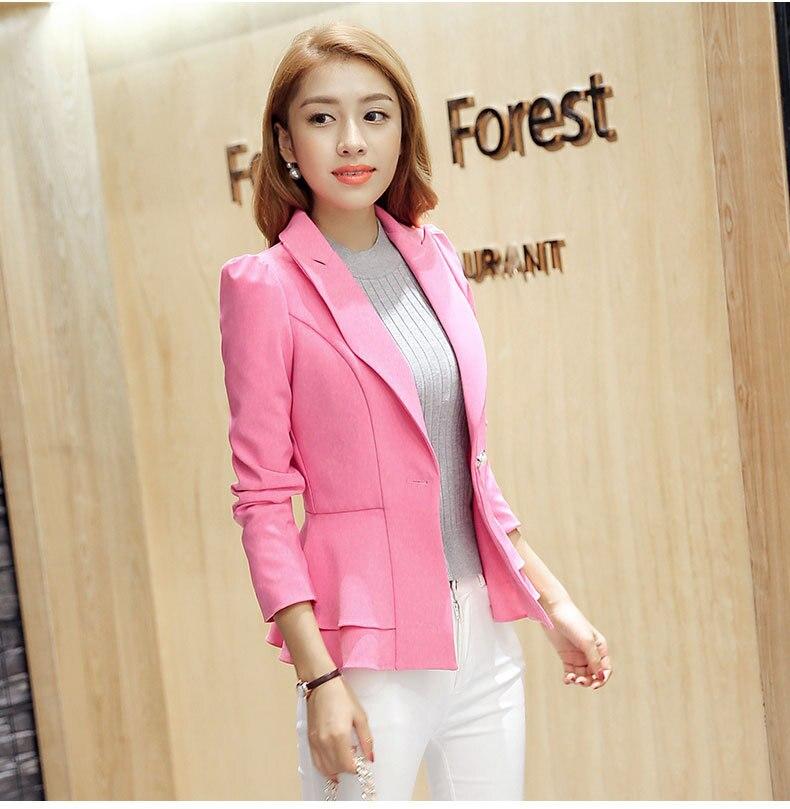 Neue mode frauen blazer frühling slim top elegante single button - Damenbekleidung - Foto 2
