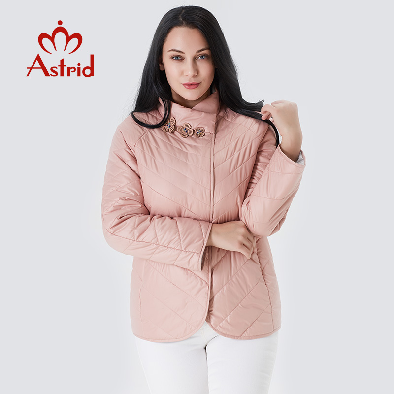 Astrid 2019 Women Spring Jacket Women Coat New Large Size Autumn Loose Pink Short Fashion Overcoat  Female Windproof AM-6145