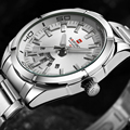 Fashion Casual Brand Stainless Steel Strap Analog Display Date Men's Quartz Watch Casual Watch Men Watches relogio masculino