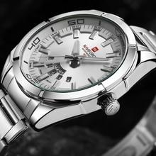 Moda Casual Brand Correa de Acero Inoxidable Pantalla Analógica Fecha hombres Reloj de Cuarzo Ocasional Reloj de Los Hombres Relojes relogio masculino