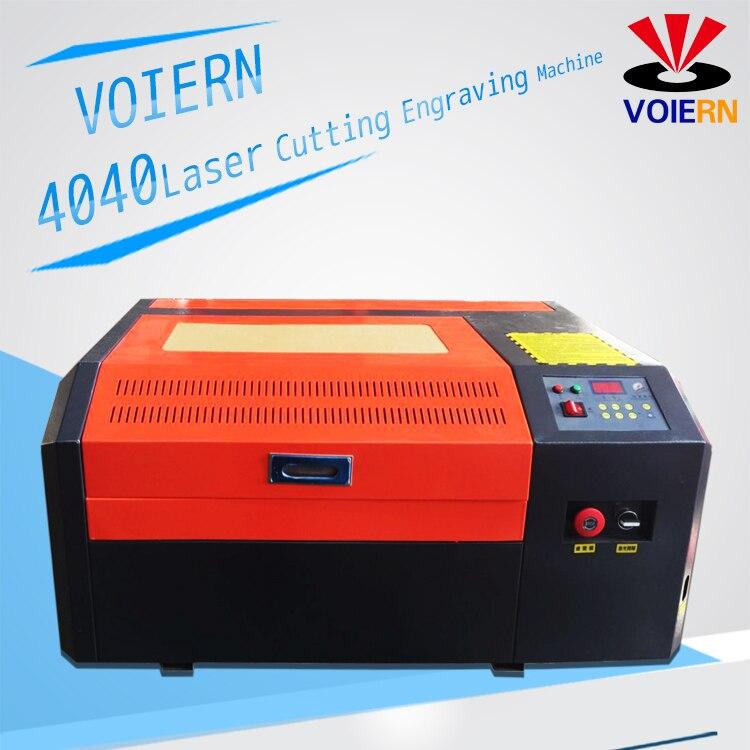 Envío gratuito a Moscú! WR4040 50 W Co2 4040 máquina de grabado láser máquina de corte grabador láser, máquina de marcado láser,