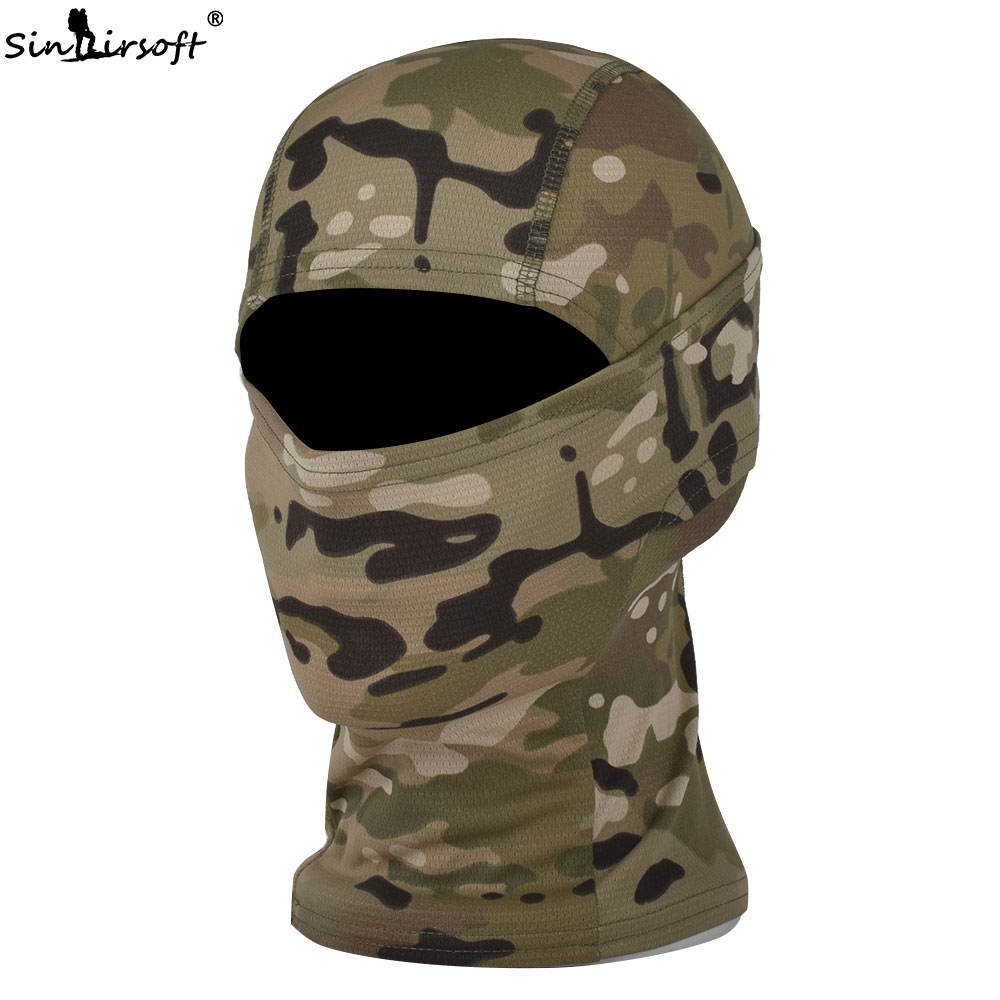 SINAIRSOFT Traspirante Chiefs Rattlesnake Cam Tactical Mask Airsoft Paintball Full Face Mask Moto Tappi di Caccia LY1300