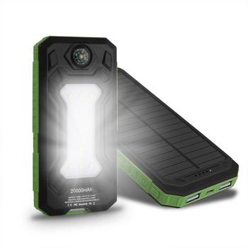 Outdoor Lighting Waterproof Portable Mobile Solar Lamp Charger Dual USB Battery Power Bank Case Kit Phone Charger usb battery bank charger