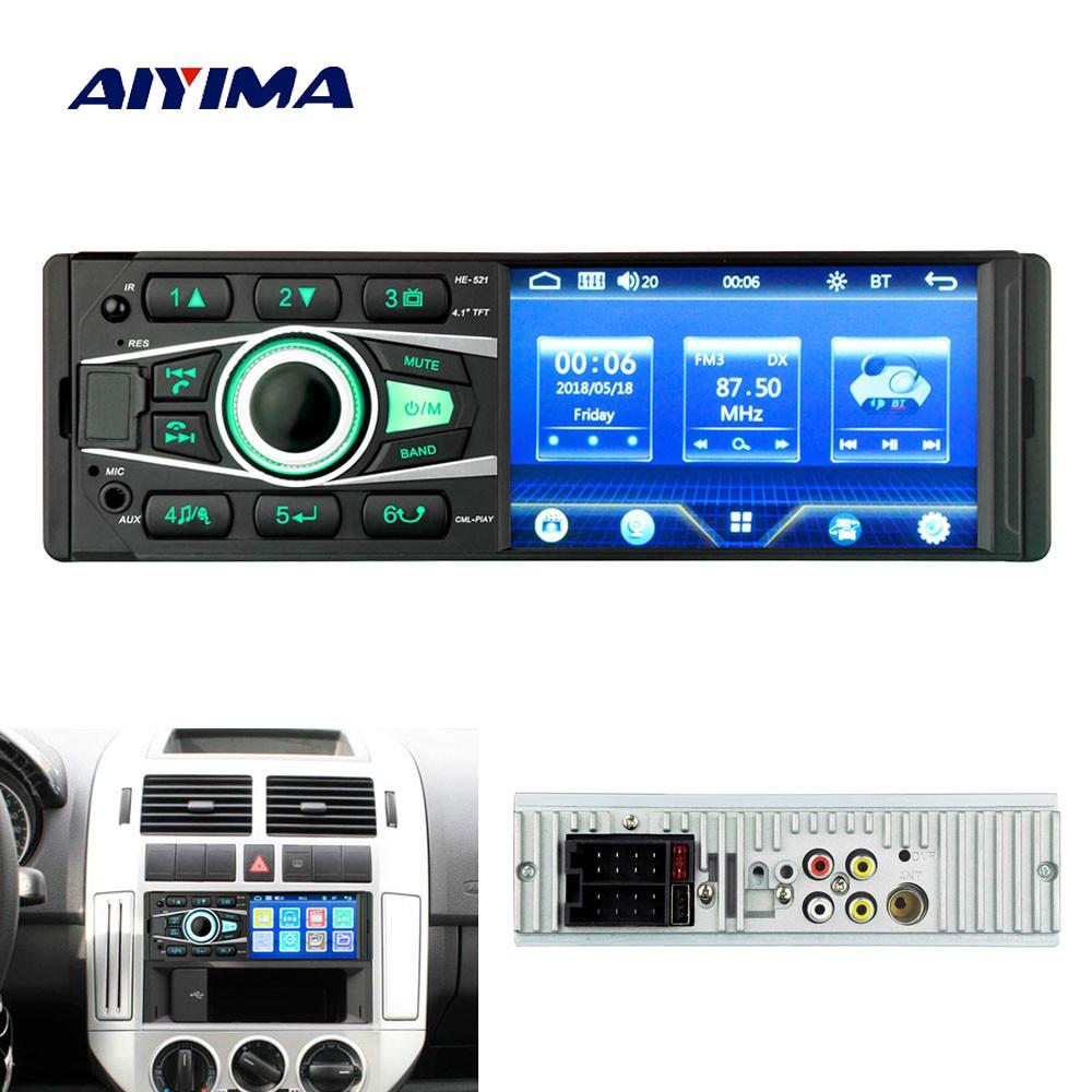 Mp4 Player Tragbares Audio & Video Aiyima 4,1 1 Din Bluetooth Universal Auto Mp5 Player Usb Tf Karte Aux Fm Radio Mp4 Audio Musik Video Hd Digital Display-player 2019 Offiziell