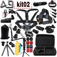 A9 For Gopro Hero 5 Accessories Selfie Monopod Octopus Tripod For go pro hero 5 4 xiaomi yi eken h9r sj4000 action camera kit02