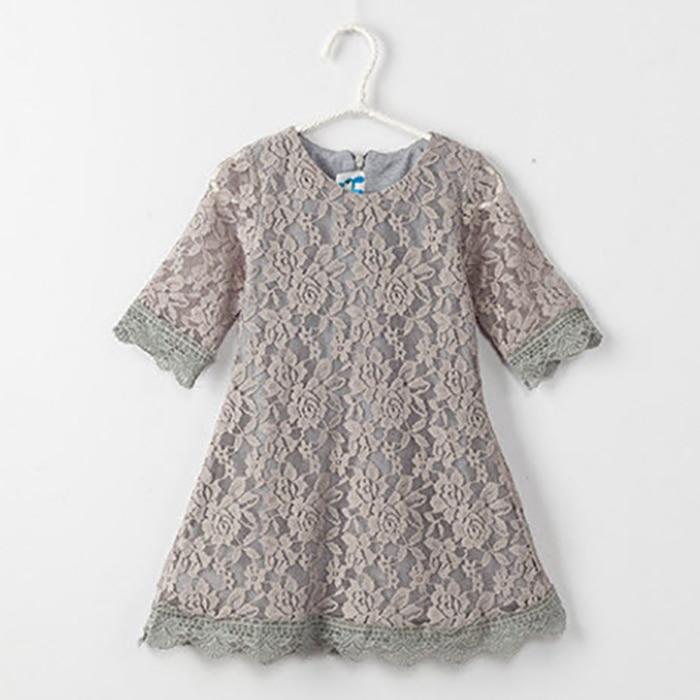 Ana Daugter Dress 2019 Yeni Moda Yaz Payız Dantel paltarları - Uşaq geyimləri - Fotoqrafiya 5
