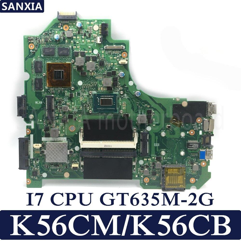 KEFU K56CM Laptop motherboard for ASUS K56CM K56CB K56C S550CM S550C Test original mainboard I7 CPU