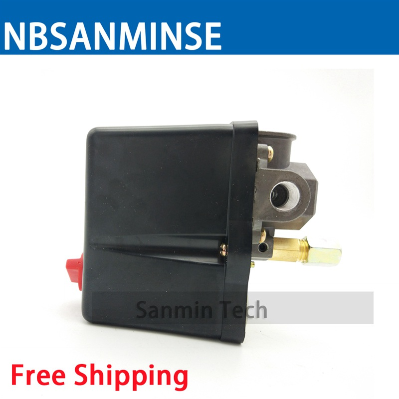 NBSANMINSE SMF 18 1/4 3/8 1/2 NPT G Air Compressor And Pump Pressure Switch 3 - Phase Pressure Switches High Quality air compressor 0 6 1 5mpa adjustable pressure switch g3 8 threaded