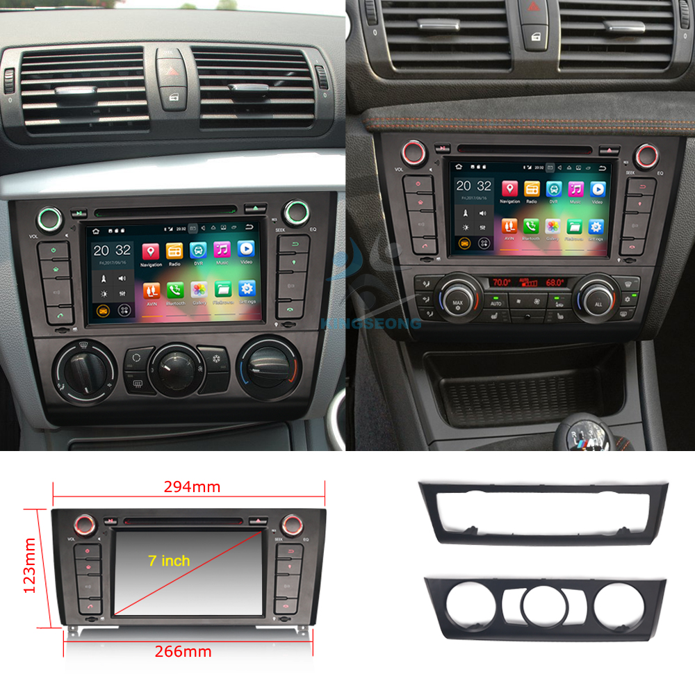autoradio android 7 1 dab wifi bluetooth car gps navigation for bmw 1 serie e81 e82 e87 e88. Black Bedroom Furniture Sets. Home Design Ideas