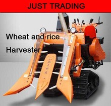1m working width rice and wheat and grain automatic crawler type combined harvester,harvesting machine(China (Mainland))