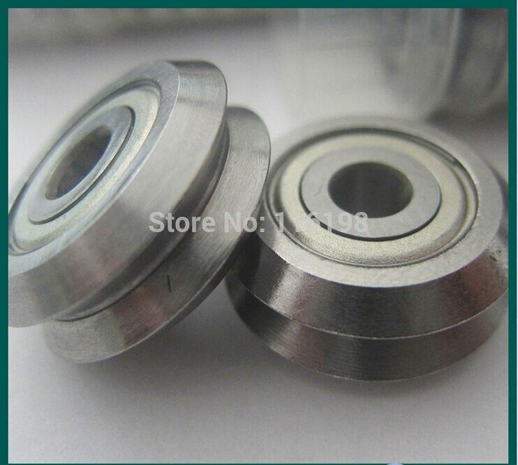 1pcs W2ZZ track roller bearing 3/8 inch Bore RM2ZZ RM2-2Z V Groove Guide Bearings 9.525x30.73x11.1mm 1 piece bu3328 6 6 33 27 5 29 5 mm z25 guide rail u groove plastic roller embedded dual bearing