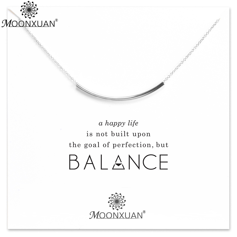 925 Sterling Silver Smile Balance Beam Necklaces Pendants