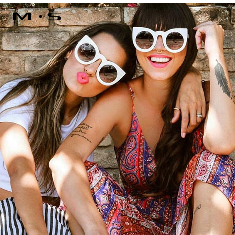 MS 2017 Fashion Sunglasses Women Luxury Brand Designer Vintage Sun glasses Female Cat eye sunglass For Women Girl Eyewear