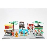 AUSINI City Mini Street 3D Model Building Blocks Boys Girls Shopping Four In One Street View