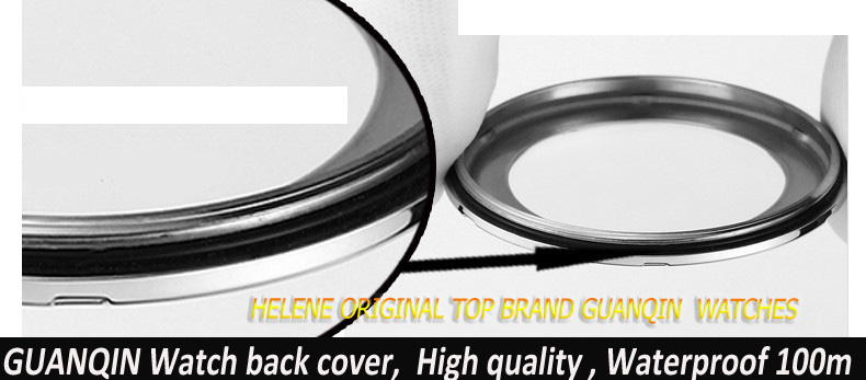 Original brand GUANQIN Watches back case , Front dial case ,high quality. Waterproof 100m Stainless steel and Glass back cover стоимость