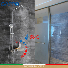 GAPPO shower Faucets thermostatic bathtub faucet brass and stainless steel rainfall set mixer tap thermostat