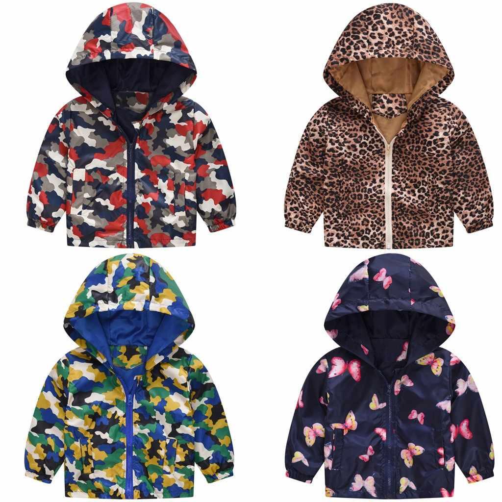 ילדי בגדי יילוד תינוק בנות בני מעיל מעיל הסוואה פרפר הדפסת אביב ברדס מעיל מעיל נים ילדים תלבושת