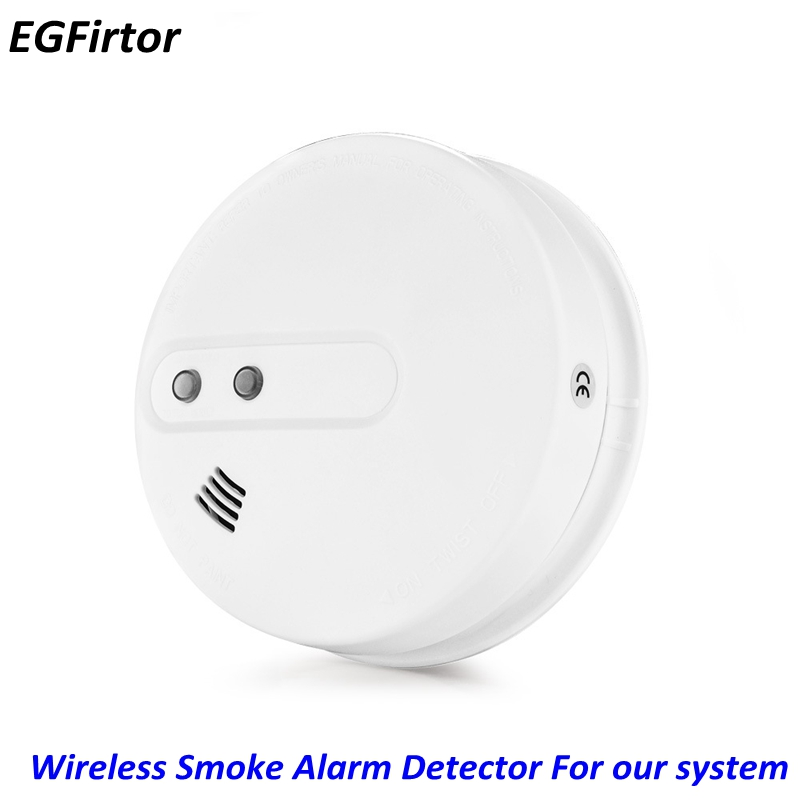 Battery Wireless 433MHz Photoelectric Smoke Detector For Our Burglar Security Alarm System