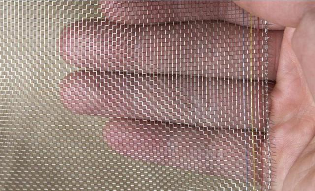 Толстая стильная дешевая, прочная, металлическая проволочная сетка, 304 проволочные экраны из нержавеющей стали, противомоскитная, солнечна...