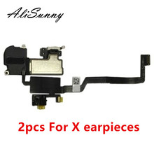 AliSunny 2pcs Earpiece  Flex Cable for iPhone X Ear Sound Speaker Ear Pieces Replacement Parts