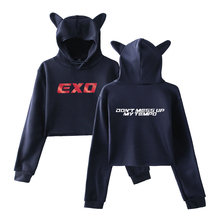 EXO Crop Top Hoodies With Ears (15 Models)