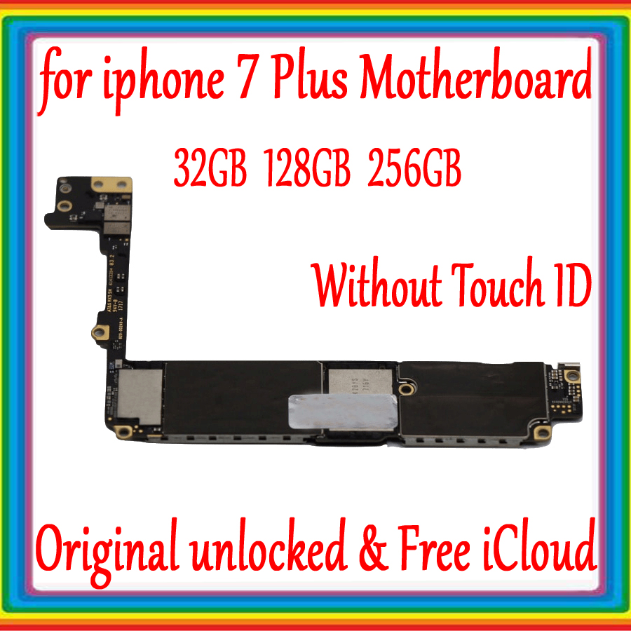 For iphone 7 Plus 5.5 inch Motherboard 32GB 128GB 256GB 100% Original unlocked for iphone 7 Plus Mainboard without Touch IDFor iphone 7 Plus 5.5 inch Motherboard 32GB 128GB 256GB 100% Original unlocked for iphone 7 Plus Mainboard without Touch ID