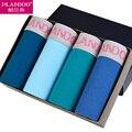 PLANDOO 2017 Fashion Male Underwear Special U Convex 4 Pieces Pack 100% Cotton Boxer Shorts Sexy Men Boxers