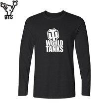 BTS RPG игра Мир танков 4XL черная футболка мужская забавная с футболкой Мужская футболка с длинным рукавом бренд Уличная Стиль для пар
