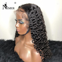 Brazilian Full Lace Wigs with Baby Hair 150% Density Full Lace Wigs Natural Hairline Curly Human Hair Wigs Nemer Remy Hair
