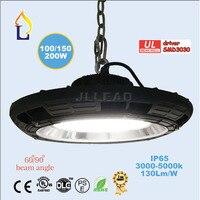 1pcs Lot UL DLC Led UFO High Bay Light 200W Industrial Light AC110 277V Ip65 5