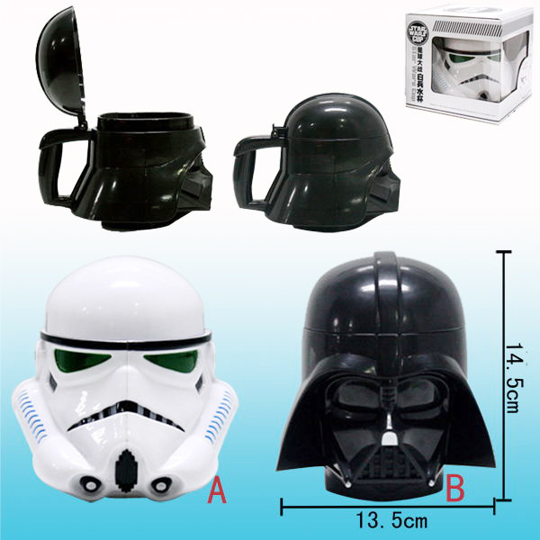 Star Wars Black Wushibaiwushi Steel Man 3D plastic water cup coffee cup in Mugs from Home Garden