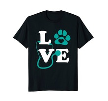 Logo T Shirts Graphic Crew Neck Love Veterinary Medicine Short-Sleeve For Men