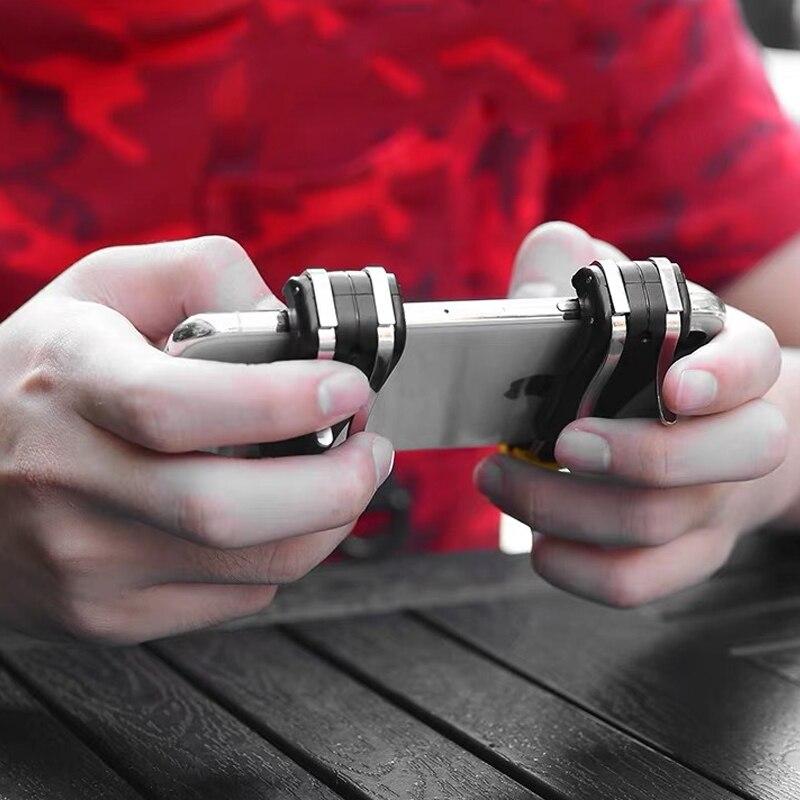Pubg manette de jeu Mobile Pubg contrôleur pour téléphone L1R1 poignée avec manette/déclencheur L1r1 Pubg boutons de feu pour iPhone Android IOS