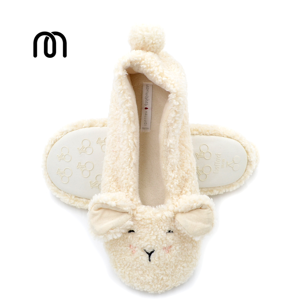 Millffy 2017 new cashmere lamb bag ears Household soft bottom floor Pregnant women shoes office shoes home confinement shoes