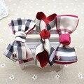 3 UNIDS Niñas Horquillas de Clip de Cabello Estilo Británico A Cuadros de La Princesa Cumpleaños Navidad Regalo de Navidad Kids Accressories de Pelo Arco