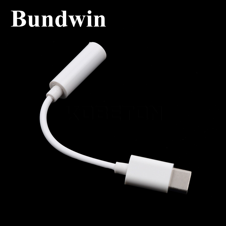 Bundwin USB 3.1 Type C to 3.5mm Adapter Earphone Headset Speaker Cable Audio Adapter Converter For Letv LeEco Le2 Le 2 Max2