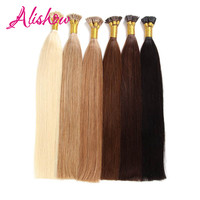 Alishow Remy Hair I Tip Keratin Human Hair Extensions 16 24 1g S 100g Silky Straight