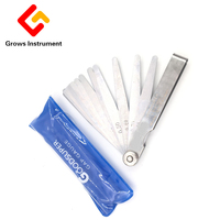 19 Blades Feeler Gauge High Strength Metric Stainless steel Gap Filler 0.01 To 1.5mm Thickness Gage For Measurment Tool