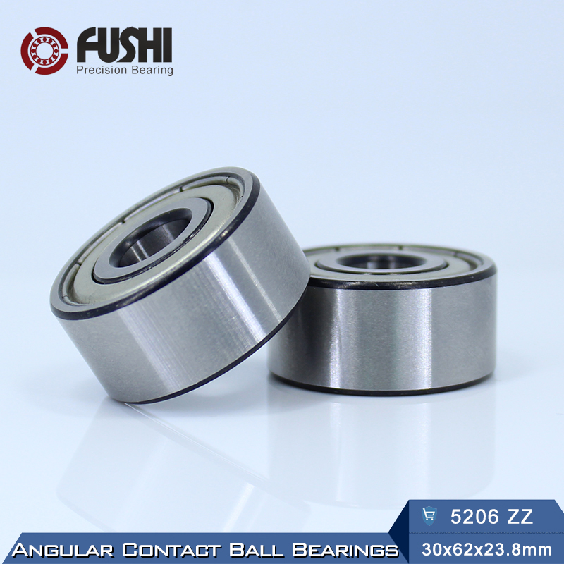 5206 ZZ Bearing 30 x 62 x 23.8 mm ( 1 PC ) Axial Double Row Angular ...