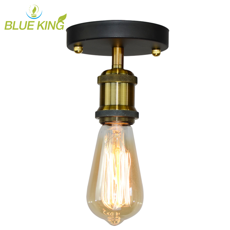 Vintage Simple Copper/Bronze Ceiling Lights Retro Industrial E27 suspended Aisle Corridor Lustres Ceiling Lamp Fixture