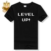 Rétro jeu console FC t chemises fans quotidienne t-shirt NIVEAU UP mots classique t-shirt cadeau pour les fans de jeux petit ami ac439
