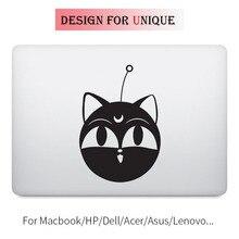Sailor Moon Lunar Cat Anime Decal Laptop Sticker for Apple Macbook Pro Air Retina 11 12 13 15 inch Cartoon Mac HP Notebook Skin