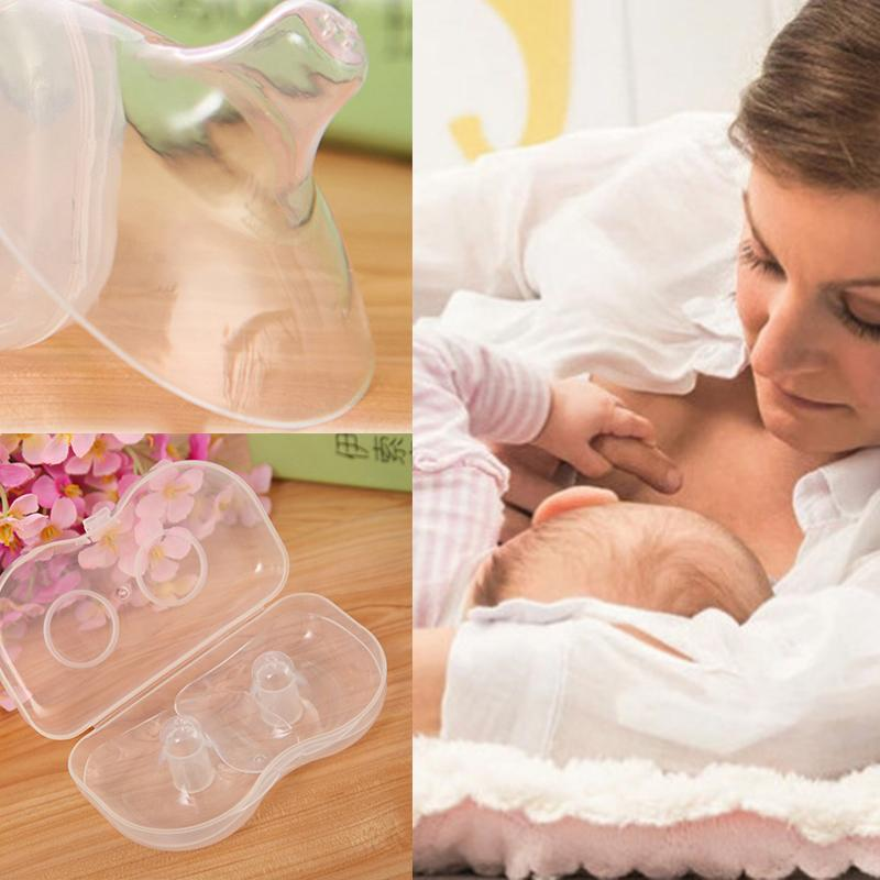 2PCS Silicone Transparent Nipple Protectors Feeding Mothers Shields Prenatal Nipple Breast Feeding Pump Accessories