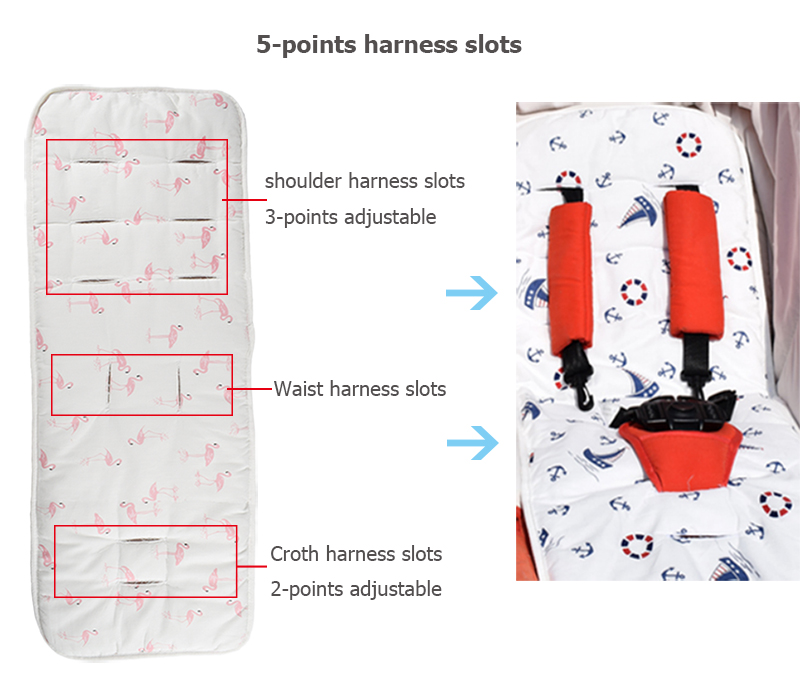 5-points harness slots