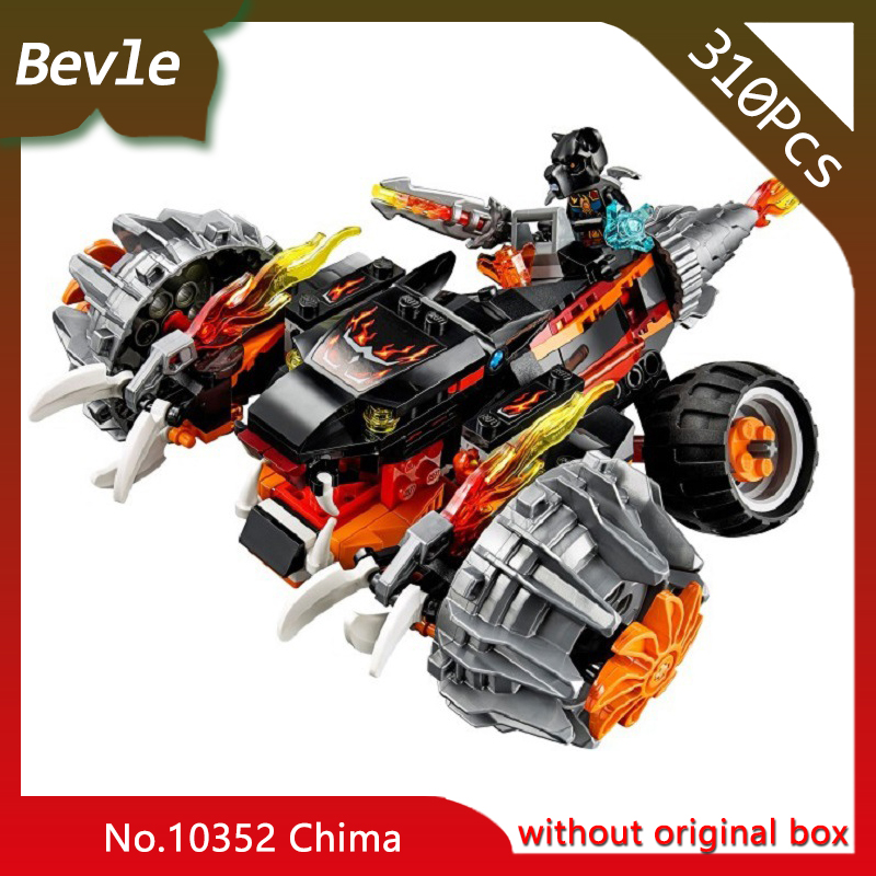 Bevle Store Bela 10352 310pcs CHIMO Series Double sided black chariot Model Building Blocks Bricks Compatible