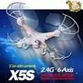Topstoys X5S RC helicóptero 4CH controle remoto robô com / sem câmera de presente de retorno melhor de X5-1 X5C-1 Quadcopter