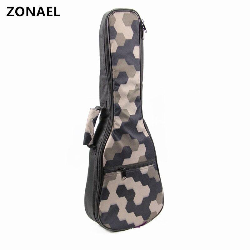 ZONAEL 21 23 24 26 Ukelele Bag Backpack Waterproof Bag With Double Shoulder Strap Bag Canvas Guitar Bags Cases Guitar Part