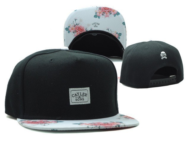 9f748d81634 Cayler sons black white floral brim adjustable baseball snapback hats for  men and women sport hip hop cotton mens womens sun cap-in Baseball Caps  from ...