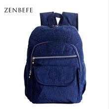 Zenbefe нейлон тафта женские рюкзаки старинные рюкзак для мамочек качество женские рюкзаки для путешествий школьная сумка для студентов сумки